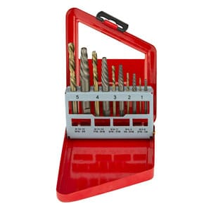 Screw Extractor and Left Hand Drill Bit Set