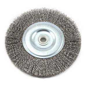 Wire Bench Wheel Brush, 1/2-Inch and 5/8-Inch Arbor