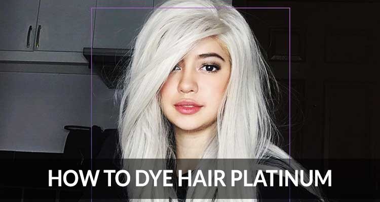 How to dye hair platinum