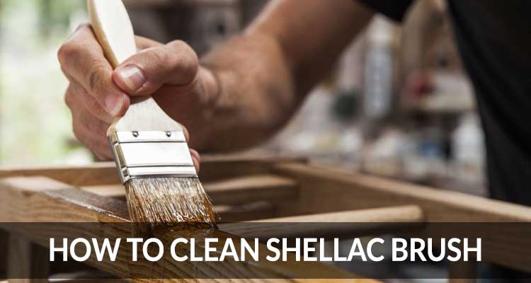 how to clean shellac brush