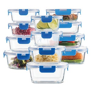 24-Piece Superior Glass Freezer To Microwave Containers