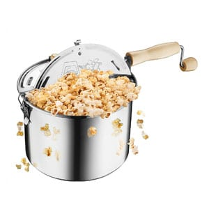 Great Northern Stovetop Popcorn Popper | Stainless Steel