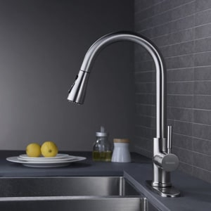 WEWE Single Handle Kitchen Faucet With Pull Down Sprayer