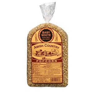 Amish Country Popcorn For Popcorn Machine | 2 lb Bag With Recipe Guide