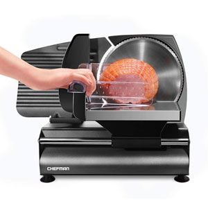 Chefman Die-Cast Electric Meat Slicer for Bacon, Stainless Steel Blade