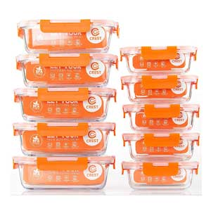 Freezer To Microwave Containers, Microwave, Oven, Freezer and Dishwasher Safe