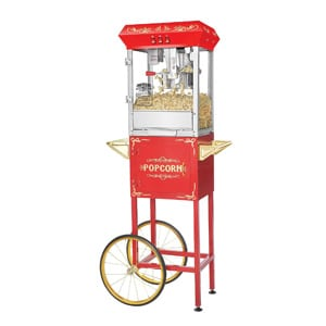 Northern Popcorn Machine With Cart | Red Foundation 8 Ounce