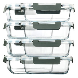 Glass Freezer To Microwave Containers, Microwave, Oven, Freezer and Dishwasher safe