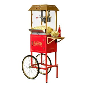 Nostalgia Vintage 10-Ounce Popcorn Machine With Cart