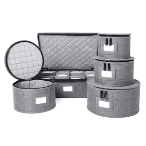 China Storage Containers Set, Felt Plate Dividers Included