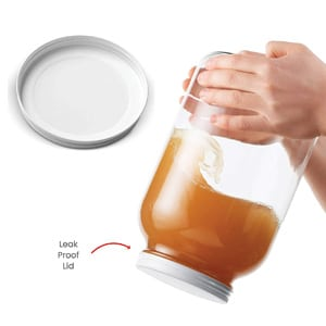 Paksh Novelty Jars For Fermenting with Airtight Metal Lid