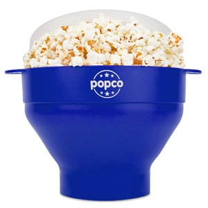 Silicone Microwave Popcorn Popper with Handles, Collapsible Popcorn Bowl
