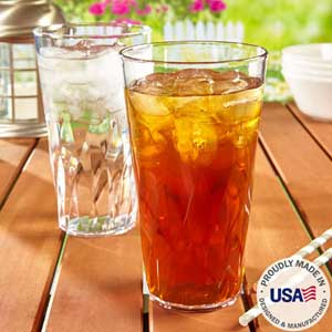 Palmetto 20-ounce Acrylic Drinking Glasses | Plastic Tumblers