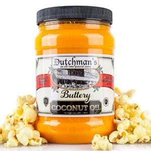 Dutchman's Coconut Oil for Popcorn, 30oz Jar
