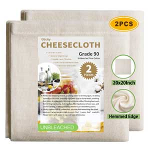 Olicity Cheesecloth, 20x20 Inch, Grade 90 Ultra Fine Reusable